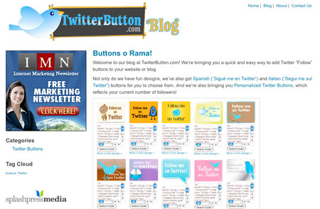 twitter button blog