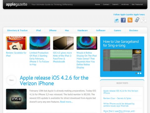 Apple Gazette redesign
