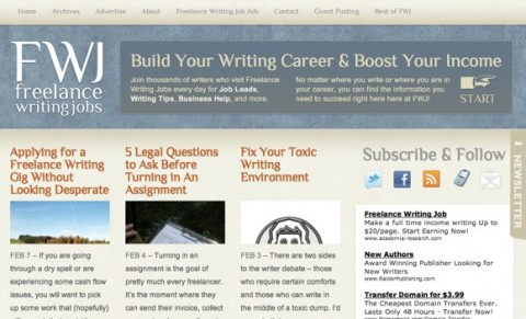 Freelance Writing Jobs redesign