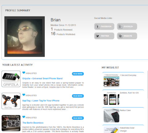 Ag store profile page